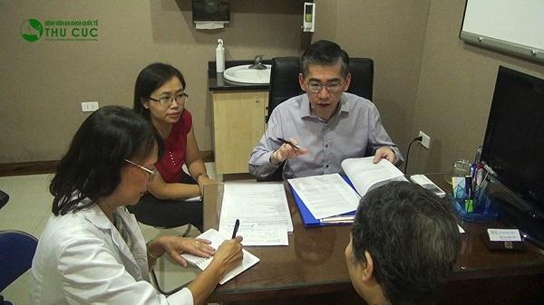 Bệnh viện Thu Cúc có bác sĩ giỏi đến từ Singapore sẽ trực tiếp tư vấn điều trị bệnh cho khách hàng