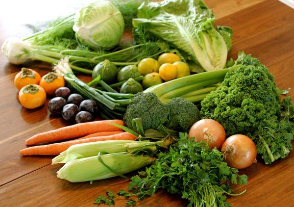 Rau xanh có vai trò quan trọng trong trung hòa acid