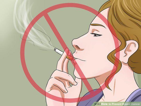 Không hút thuốc lá để phòng ngừa ung thư vú