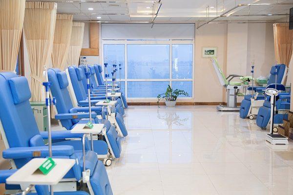 Không gian phòng truyền hóa chất - Bệnh viện Thu Cúc