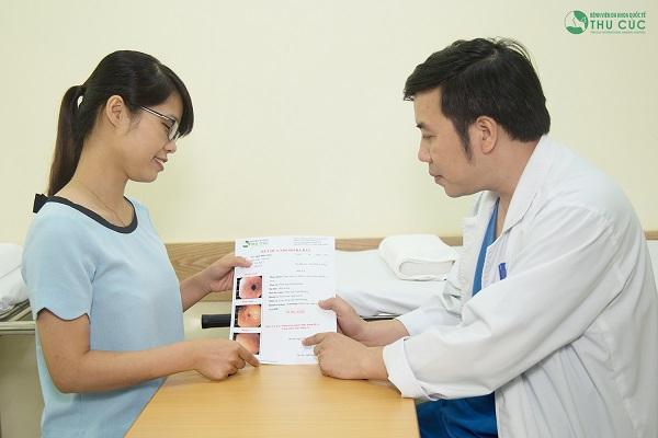 Kết thúc quá trình nội soi, người bệnh được thăm khám và tư vấn điều trị với bác sĩ giỏi