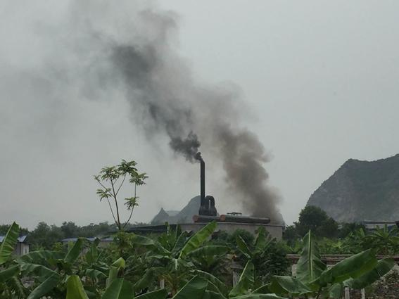 Khói bụi ô nhiễm môi trường.